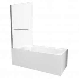 Paroi de bain Prime chromé 150 x 85 cm AURLANE