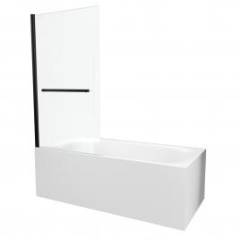 Paroi de bain Prime noir mat 150 x 85 cm AURLANE