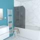 Paroi de bain Emily 130 x 75 cm chromé AURLANE