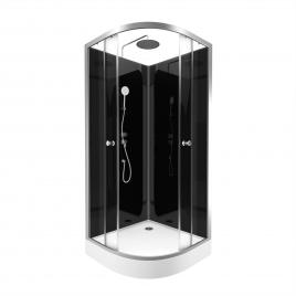 Cabine de douche Eclipse ronde 90 x 90 cm AURLANE