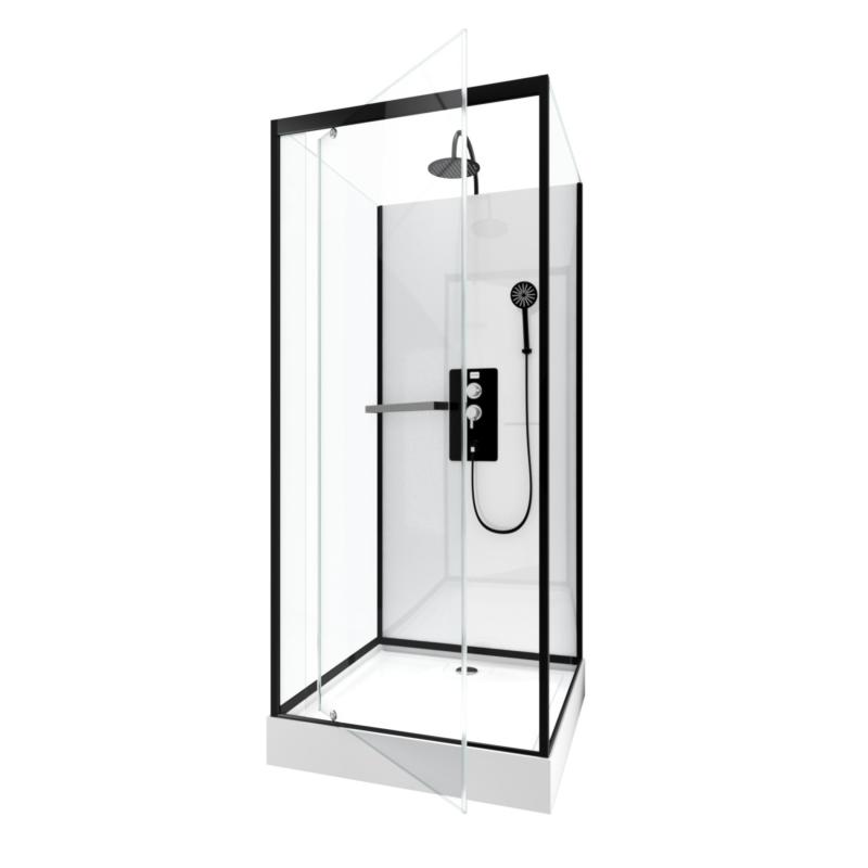 cabine de douche city 90 x 90 x 230 cm aurlane. Black Bedroom Furniture Sets. Home Design Ideas