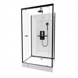 cabine de douche graphite carbone 85 x 85 x 225 cm aurlane. Black Bedroom Furniture Sets. Home Design Ideas