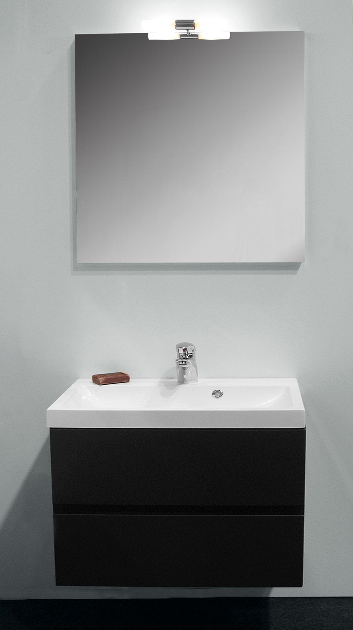 Tablette Salle De Bain 80 Cm ensemble de salle bain roxanne 80 cm anthracite van marcke - mr.bricolage