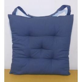 Galette de chaise matelassée bleue Jaya 40 x 40 cm INVENTIV