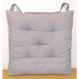 Galette de chaise matelassée grise claire Jaya 40 x 40 cm INVENTIV