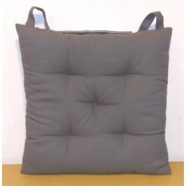 Galette de chaise matelassée grise foncée Jaya 40 x 40 cm INVENTIV