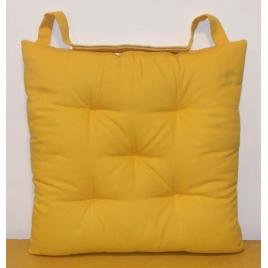 Galette de chaise matelassée jaune Jaya 40 x 40 cm INVENTIV