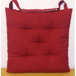 Galette de chaise matelassée rouge Jaya 40 x 40 cm INVENTIV