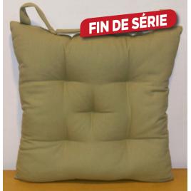 Galette de chaise matelassée kaki Jaya 40 x 40 cm INVENTIV