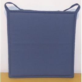 Galette de chaise plate bleue Jaya 38 x 38 cm INVENTIV