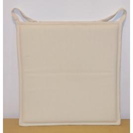 Galette de chaise plate écrue Jaya 38 x 38 cm INVENTIV