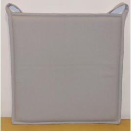 Galette de chaise plate grise claire Jaya 38 x 38 cm INVENTIV
