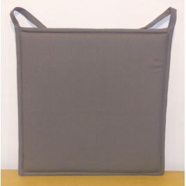 Galette de chaise plate grise foncée Jaya 38 x 38 cm INVENTIV