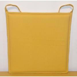 Galette de chaise plate jaune Jaya 38 x 38 cm INVENTIV
