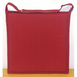 Galette de chaise plate rouge Jaya 38 x 38 cm INVENTIV