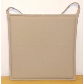Galette de chaise plate taupe Jaya 38 x 38 cm INVENTIV