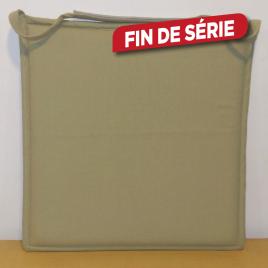 Galette de chaise plate kaki Jaya 38 x 38 cm INVENTIV