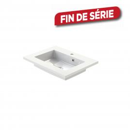 Plan de toilette Quadro S-line blanc 60 cm TIGER