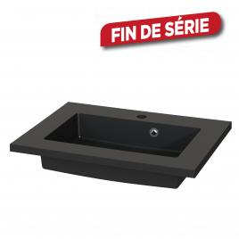 Plan de toilette Quadro S-line noir mat 60 cm TIGER