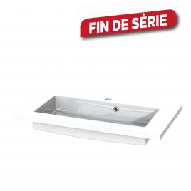 Plan de toilette Quadro S-line blanc 80 cm TIGER