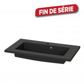 Plan de toilette Quadro S-line noir mat 80 cm TIGER