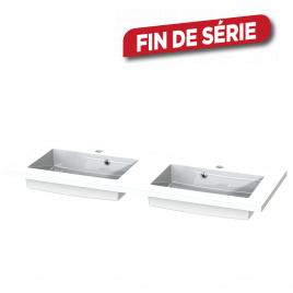 Plan de toilette Quadro S-line blanc 120 cm TIGER