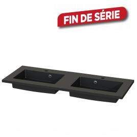 Plan de toilette Quadro S-line noir mat 120 cm TIGER