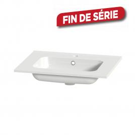 Plan de toilette Liro S-Line céramique blanc 60 cm TIGER