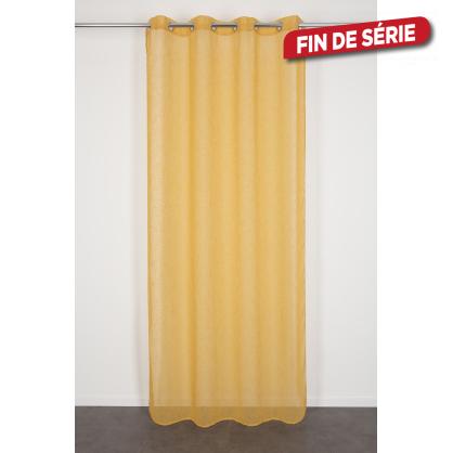 Voilage jaune Nelia 140 x 240 cm INVENTIV