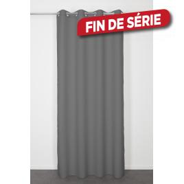 Rideau gris foncé Lys 140 x 240 cm INVENTIV