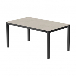 Table de jardin anthracite Uptown Light 150 x 100 x 74 cm