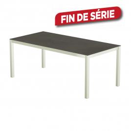 Table de jardin blanche en céramique Luxury 200 x 100 x 74 cm