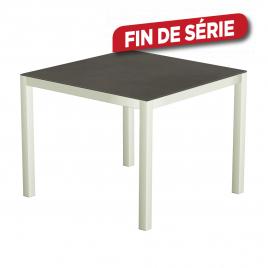 Table de jardin blanche en céramique Luxury 150 x 100 x 74 cm