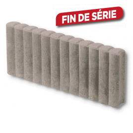 Palette 136 Bordures rondes grises 50 x 20 x 6 cm (livraison à domicile)