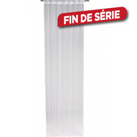 Voilage blanc brillant Jaya 140 x 240 cm INVENTIV