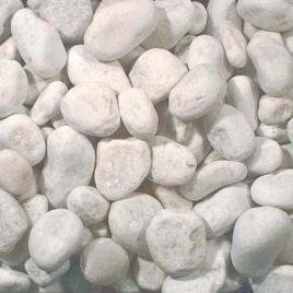 Gravier décoratif en marbre blanc de Carrare concassé Carrara 25-40 mm 20 kg COBO GARDEN