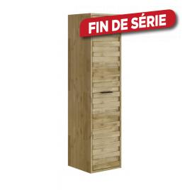 Colonne de salle de bain GLASGOW 40 cm acacia massif ALLIBERT