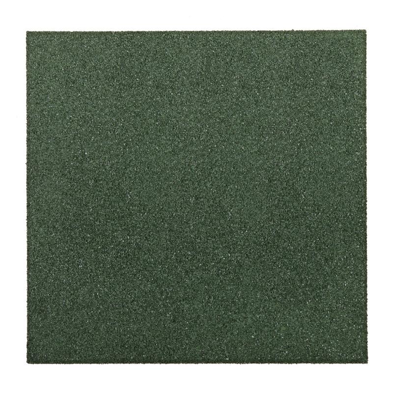 Dalle En Caoutchouc Vert 50 X 50 X 2 5 Cm Mr Bricolage