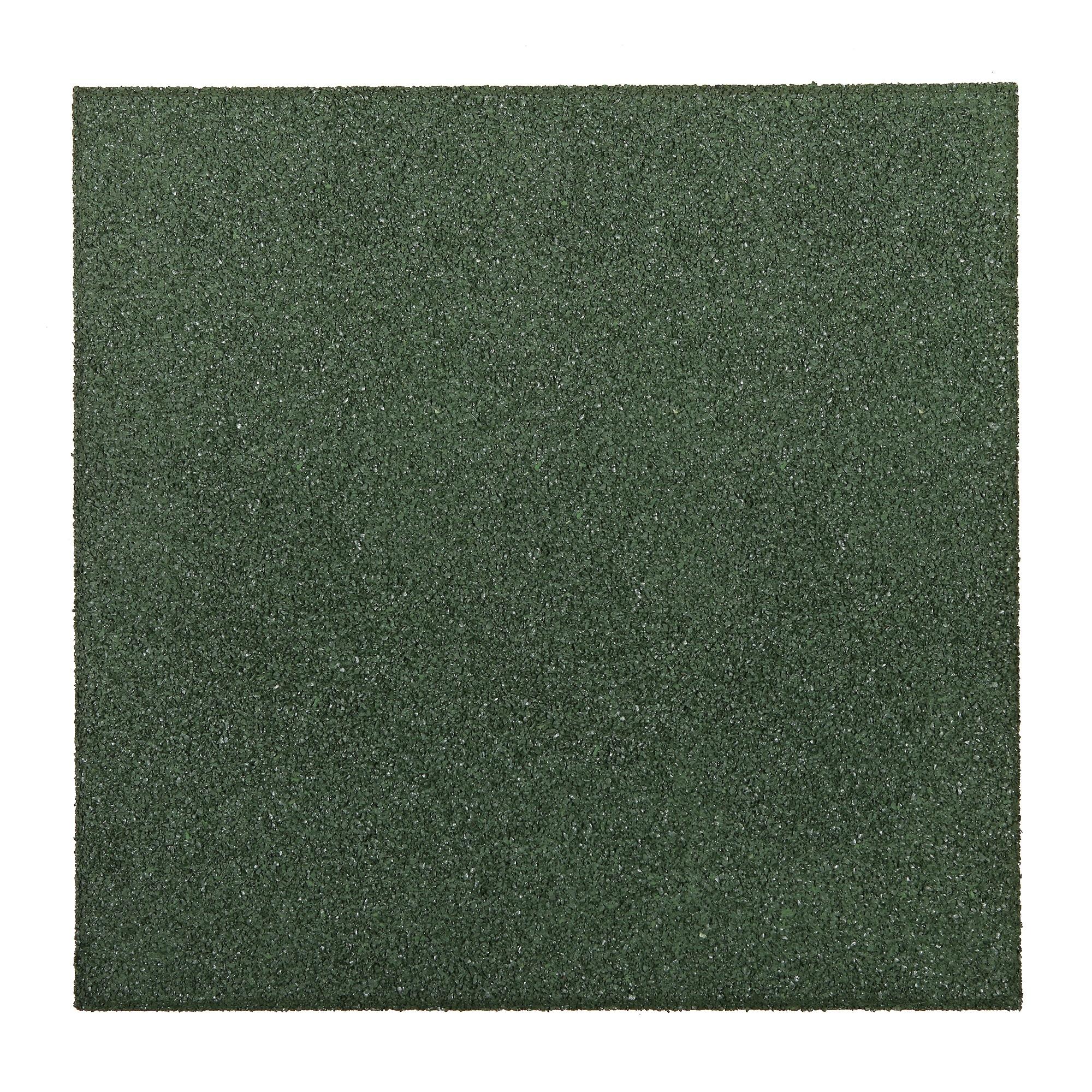Dalle De Protection Piscine dalle en caoutchouc vert 50 x 50 x 2,5 cm - mr.bricolage
