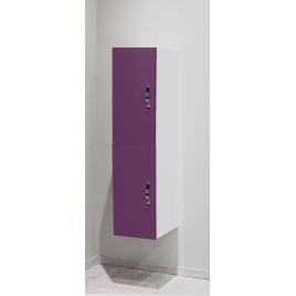 Porte pour colonne de salle de bain Mixy aubergine 2 pièces