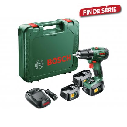 Coffret perceuse-visseuse PSR 1800 avec 3 batteries BOSCH