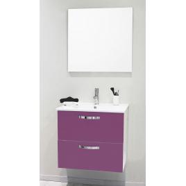 Façade de meuble de salle bain Mixy aubergine 60 cm 2 pièces