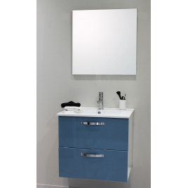 Façade de meuble de salle bain Mixy bleu 60 cm 2 pièces