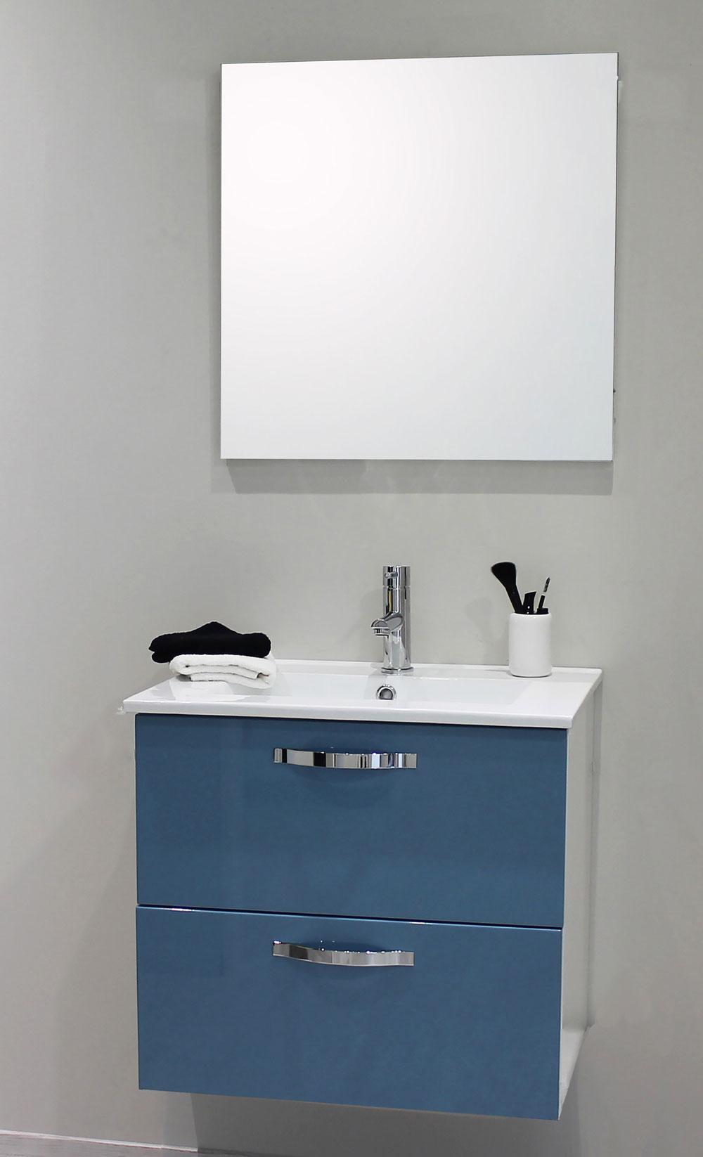 Façade de meuble de salle bain Mixy bleu 200 cm 20 pièces - Mr.Bricolage