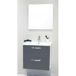 Façade de meuble de salle bain Mixy gris 60 cm 2 pièces