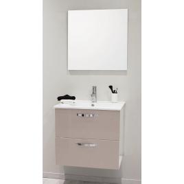 Façade de meuble de salle bain Mixy sable 60 cm 2 pièces