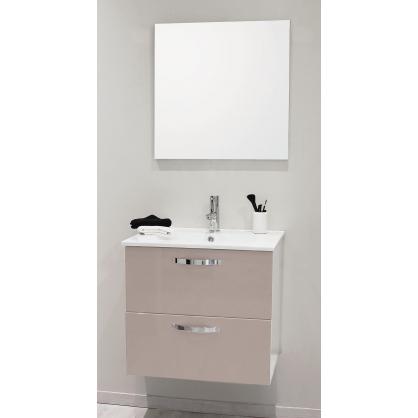 fa ade de meuble de salle bain mixy sable 60 cm 2 pi ces. Black Bedroom Furniture Sets. Home Design Ideas