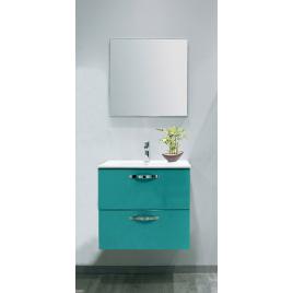 Façade de meuble de salle bain Mixy vert d'eau 60 cm 2 pièces