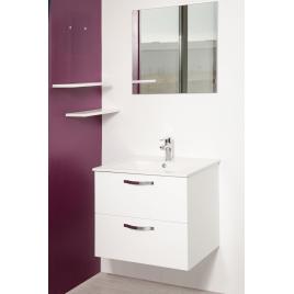 Façade de meuble de salle bain Mixy blanc 80 cm 2 pièces