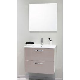 Façade de meuble de salle bain Mixy sable 80 cm 2 pièces